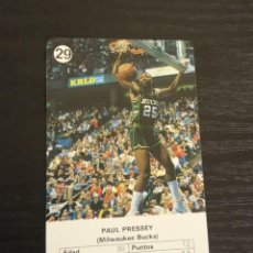 Coleccionismo deportivo: -ESTRELLAS DE LA NBA 1988 : PAUL PRESSEY ( MILWAUKEE BUCKS ). Lote 221625075
