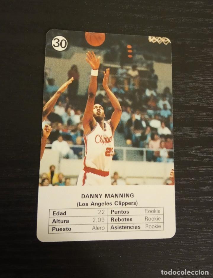 -ESTRELLAS DE LA NBA 1988 : DANNY MANNING ( LOS ANGELES CLIPPERS ) (Coleccionismo Deportivo - Cromos otros Deportes)