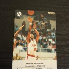 Coleccionismo deportivo: -ESTRELLAS DE LA NBA 1988 : DANNY MANNING ( LOS ANGELES CLIPPERS ). Lote 221625123