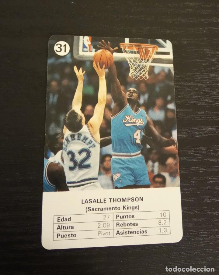 -ESTRELLAS DE LA NBA 1988 : LASALLE THOMPSON ( SACRAMENTO KINGS ) (Coleccionismo Deportivo - Cromos otros Deportes)