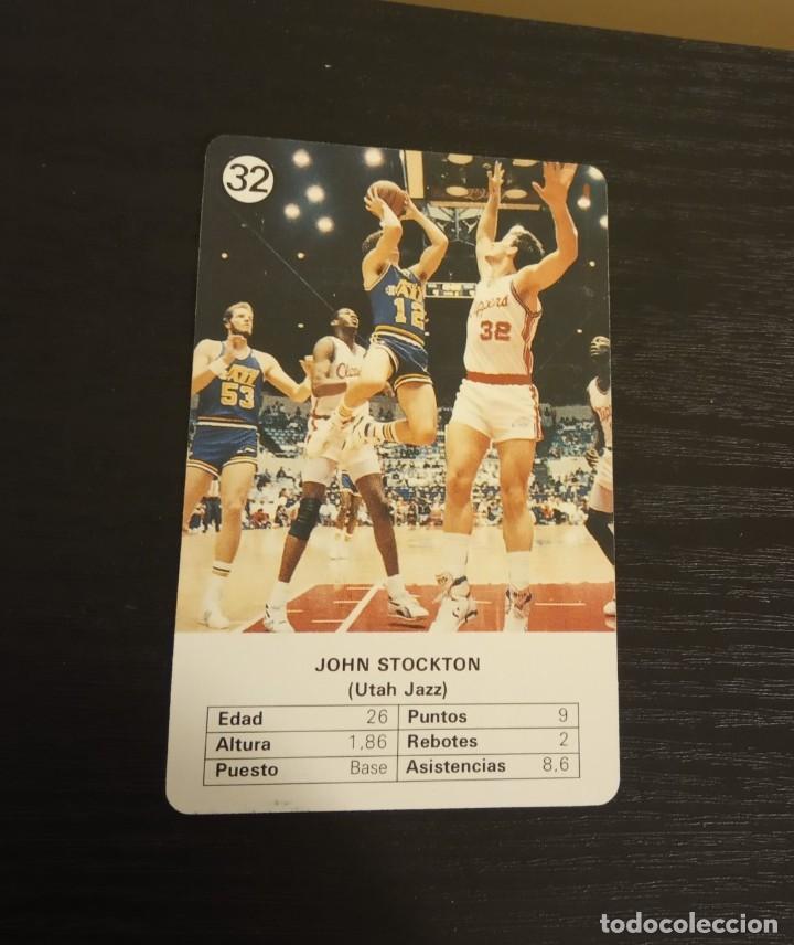-ESTRELLAS DE LA NBA 1988 : JOHN STOCKTON ( UTAH JAZZ ) (Coleccionismo Deportivo - Cromos otros Deportes)