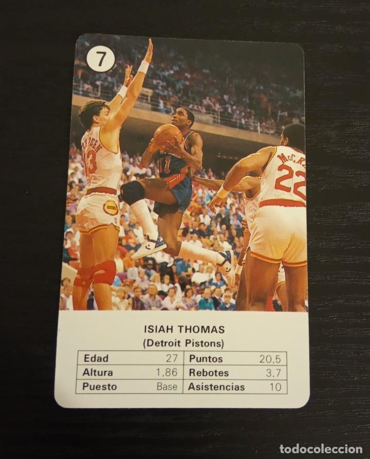 -ESTRELLAS DE LA NBA 1988 : ISIAH THOMAS ( DETROIT PISTONS ) BASKET CARD SPAIN (Coleccionismo Deportivo - Cromos otros Deportes)