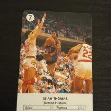 Coleccionismo deportivo: -ESTRELLAS DE LA NBA 1988 : ISIAH THOMAS ( DETROIT PISTONS ) BASKET CARD SPAIN. Lote 221964428