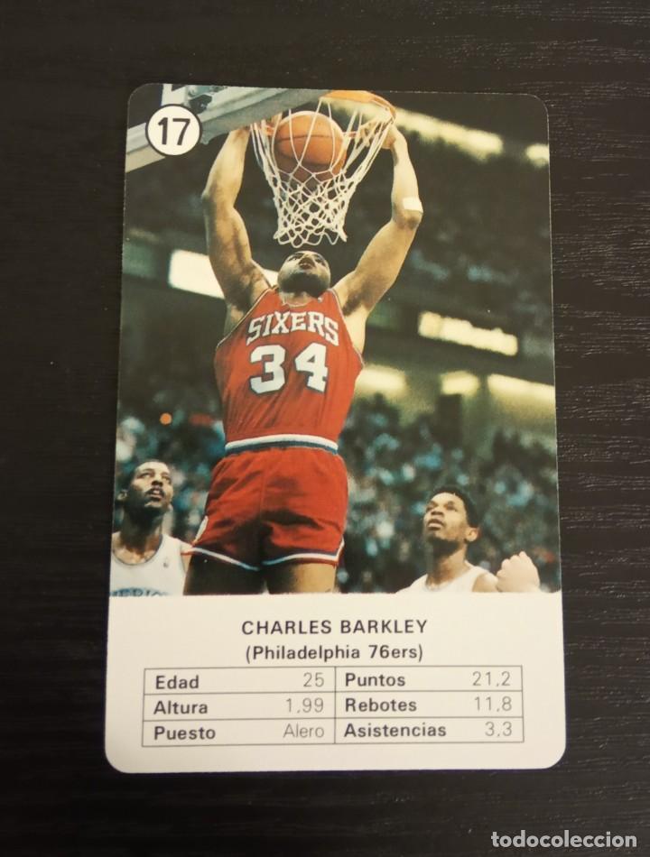 -ESTRELLAS DE LA NBA 1988 : CHARLES BARKLEY ( PHILADELP 76ERS ) BASKET CARD SPAIN (Coleccionismo Deportivo - Cromos otros Deportes)