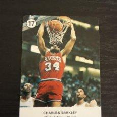 Coleccionismo deportivo: -ESTRELLAS DE LA NBA 1988 : CHARLES BARKLEY ( PHILADELP 76ERS ) BASKET CARD SPAIN. Lote 221964710