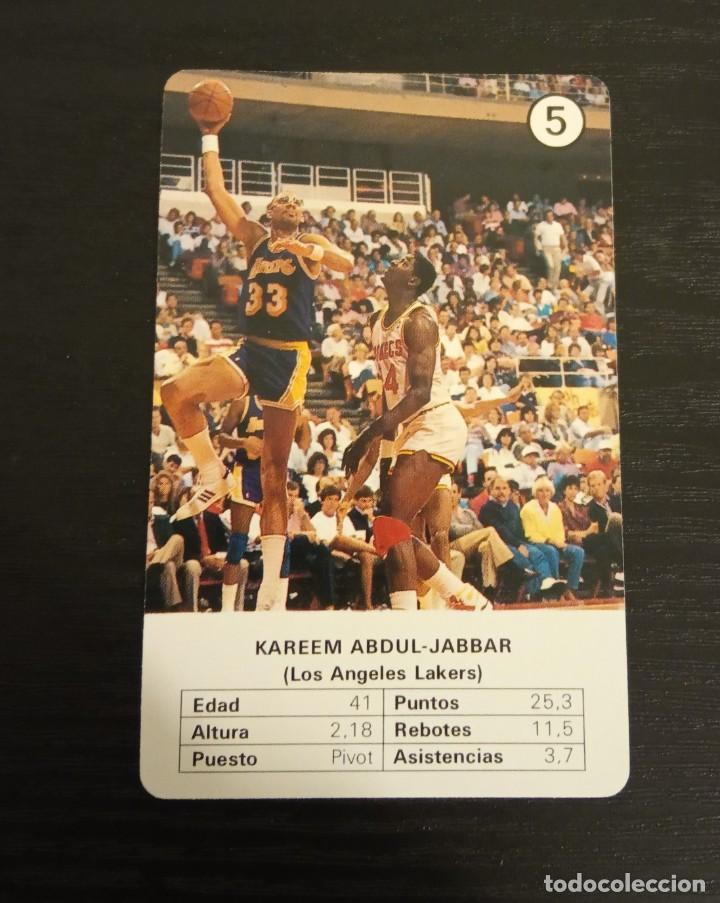 -ESTRELLAS DE LA NBA 1988 : KAREEM ABDUL JABBAR ( L.A. LAKERS ) BASKET CARD SPAIN (Coleccionismo Deportivo - Cromos otros Deportes)