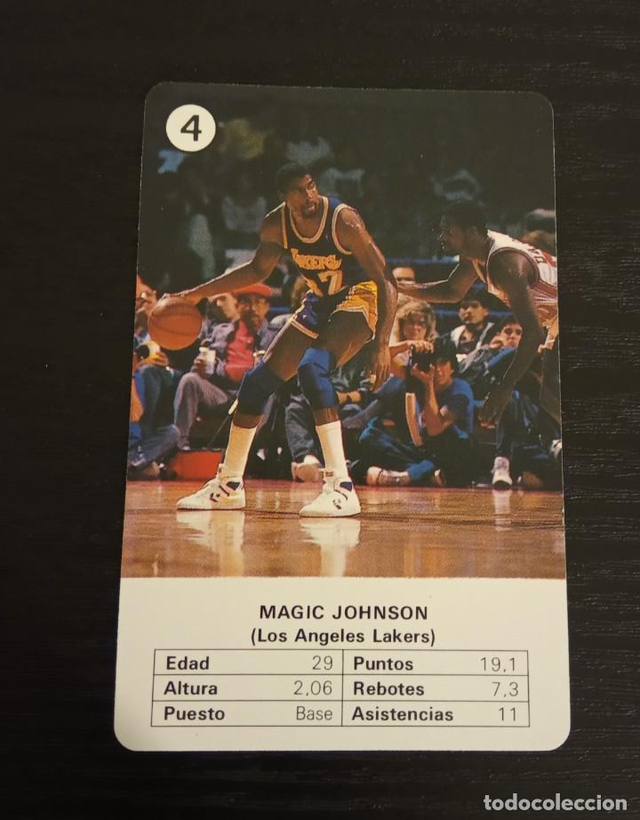 -ESTRELLAS DE LA NBA 1988 : MAGIC JOHNSON ( L.A. LAKERS ) BASKET CARD SPAIN (Coleccionismo Deportivo - Cromos otros Deportes)