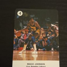 Coleccionismo deportivo: -ESTRELLAS DE LA NBA 1988 : MAGIC JOHNSON ( L.A. LAKERS ) BASKET CARD SPAIN. Lote 221964901