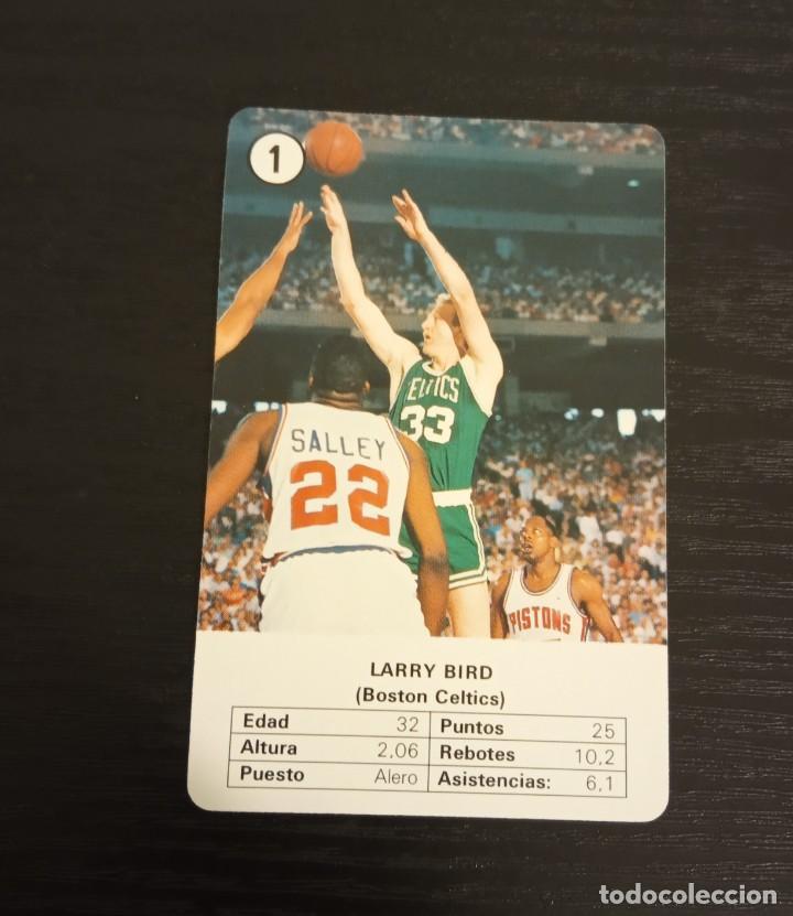 -ESTRELLAS DE LA NBA 1988 : LARRY BIRD ( BOSTON CELTICS ) BASKET CARD SPAIN (Coleccionismo Deportivo - Cromos otros Deportes)