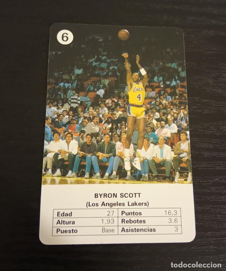 -ESTRELLAS DE LA NBA 1988 : BYRON SCOTT ( L.A. LAKERS ) BASKET CARD SPAIN (Coleccionismo Deportivo - Cromos otros Deportes)