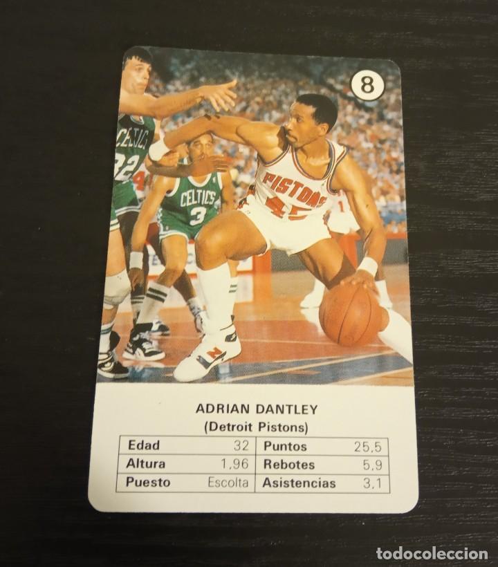 -ESTRELLAS DE LA NBA 1988 : ADRIAN DANTLEY ( DETROIT PISTONS ) BASKET CARD SPAIN (Coleccionismo Deportivo - Cromos otros Deportes)