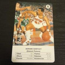 Coleccionismo deportivo: -ESTRELLAS DE LA NBA 1988 : ADRIAN DANTLEY ( DETROIT PISTONS ) BASKET CARD SPAIN. Lote 221965155