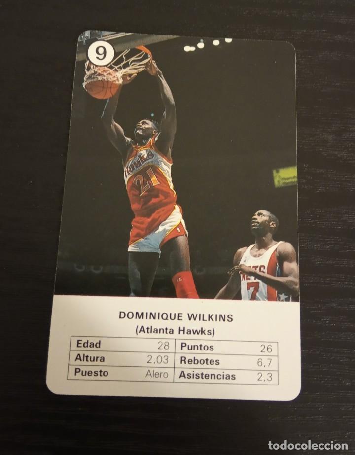 -ESTRELLAS DE LA NBA 1988 : DOMINIQUE WILKINS ( ATLANTA HAWS ) BASKET CARD SPAIN (Coleccionismo Deportivo - Cromos otros Deportes)