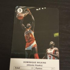 Coleccionismo deportivo: -ESTRELLAS DE LA NBA 1988 : DOMINIQUE WILKINS ( ATLANTA HAWS ) BASKET CARD SPAIN. Lote 221965226