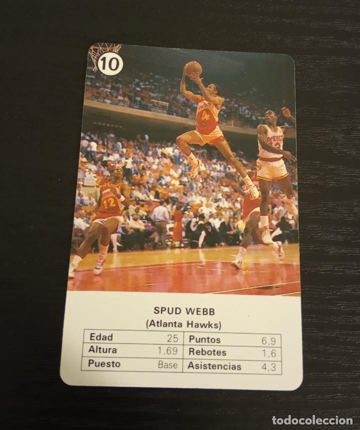 -ESTRELLAS DE LA NBA 1988 : SPUD WEBB ( ATLANTA HAWS ) BASKET CARD SPAIN (Coleccionismo Deportivo - Cromos otros Deportes)