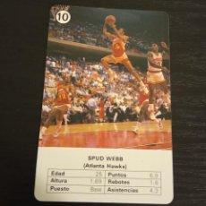 Coleccionismo deportivo: -ESTRELLAS DE LA NBA 1988 : SPUD WEBB ( ATLANTA HAWS ) BASKET CARD SPAIN. Lote 221965292
