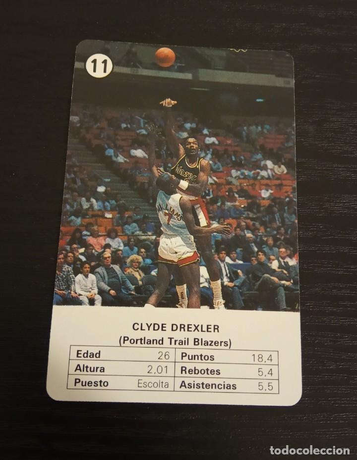 -ESTRELLAS DE LA NBA 1988 : CLYDE DREXLER ( PORTLAND BLAZERS ) BASKET CARD SPAIN (Coleccionismo Deportivo - Cromos otros Deportes)