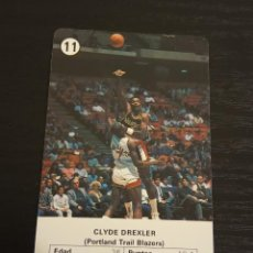 Coleccionismo deportivo: -ESTRELLAS DE LA NBA 1988 : CLYDE DREXLER ( PORTLAND BLAZERS ) BASKET CARD SPAIN. Lote 221965383