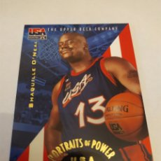 Coleccionismo deportivo: SHAQUILLE O'NEAL 53 NBA 1996 UPPER DECK USA BASKETBALL DELUXE GOLD EDITION. Lote 222251752