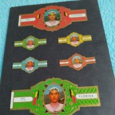 Coleccionismo deportivo: CICLISMO EDDY MERCK LOTE SEIS VITOLAS FLORIDA POR DETRAS VITOLAS TAF Y HENRY WINTERMANS. Lote 222712935