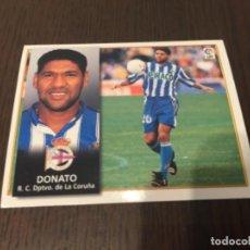 Coleccionismo deportivo: DONATO - DEPORTIVO DE LA CORUÑA - 98 99 1998 1999 - EDICIONES ESTE - NUNCA PEGADO. Lote 222836766