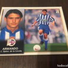 Coleccionismo deportivo: ARMANDO - DEPORTIVO DE LA CORUÑA - 98 99 1998 1999 - EDICIONES ESTE - NUNCA PEGADO. Lote 222856626