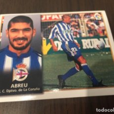 Coleccionismo deportivo: ABREU - DEPORTIVO DE LA CORUÑA - 98 99 1998 1999 - EDICIONES ESTE - NUNCA PEGADO. Lote 222856797