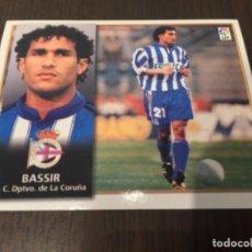 Coleccionismo deportivo: BASSIR - DEPORTIVO DE LA CORUÑA - 98 99 1998 1999 - EDICIONES ESTE - NUNCA PEGADO. Lote 222856811