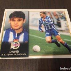 Coleccionismo deportivo: DAVID - DEPORTIVO DE LA CORUÑA - 98 99 1998 1999 - EDICIONES ESTE - NUNCA PEGADO. Lote 222856846