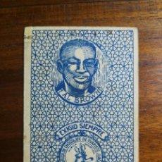 Coleccionismo deportivo: AL ALF BROWN ( PANAMA ) CAMPEÓN MUNDIAL - CROMO NAIPE CHOCOLATES JUNCOSA BOXEO. Lote 223278378
