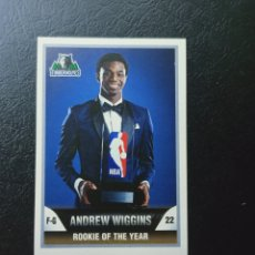 Coleccionismo deportivo: 452 ANDREW WIGGINS ROOKIE OF THE YEAR NBA 2015 2016 STICKER COLLECTION TIMBERWOLVES. Lote 224462660