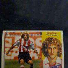 Coleccionismo deportivo: COLOCCINI - ATLETICO DE MADRID - 2002 2003 02 03 - CROMO EDICIONES ESTE - NUNCA PEGADO. Lote 226704745