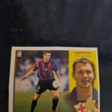 Collezionismo sportivo: ANDERSSON - BARCELONA - 2002 2003 02 03 - CROMO EDICIONES ESTE - NUNCA PEGADO. Lote 226708750