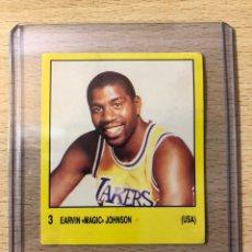 Coleccionismo deportivo: # 3 EARVIN MAGIC JOHNSON LA LAKERS (USA), SUPERSPORT 1988, BALONCESTO NBA SIN PEGAR, BIEN ESTADO.. Lote 227955390