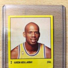 Coleccionismo deportivo: # 2 KAREEM ABDUL JABBAR LA LAKERS (USA), SUPERSPORT 1988, BALONCESTO, NBA,SIN PEGAR, MUY BUEN ESTADO. Lote 227955822