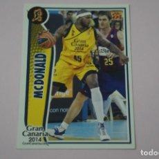 Collezionismo sportivo: CROMO CARD DE BALONCESTO BASKET MCDONALD DEL GRAN CANARIA 2014 Nº 175 LIGA ACB 09-10 PANINI. Lote 228116325