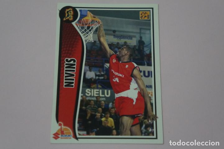 CROMO CARD DE BALONCESTO BASKET NIVINS DEL SUZUKI MANRESA Nº 281 LIGA ACB 09-10 PANINI (Coleccionismo Deportivo - Cromos otros Deportes)