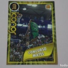Collezionismo sportivo: CROMO CARD DE BALONCESTO BASKET CONCURSO MATES Nº 331 LIGA ACB 09-10 PANINI. Lote 228123050