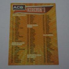 Collezionismo sportivo: CROMO CARD DE BALONCESTO BASKET CHECKLIST Nº 1 LIGA ACB 09-10 PANINI. Lote 228124300