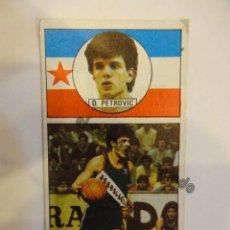 Coleccionismo deportivo: 141. D. PETROVIC. CROMO CONVERSE. Lote 234725280