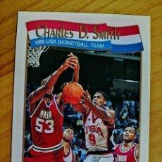 Coleccionismo deportivo: NBA - HOOPS - AÑO 1991 - BALONCESTO, CROMO NUEVO NÚMERO 574 - CHARLES SMITH. Lote 235330235