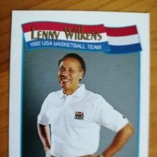 Coleccionismo deportivo: NBA - HOOPS - AÑO 1991 - BALONCESTO, CROMO NUEVO NÚMERO 586 - LENNY WILKENS. Lote 235340335