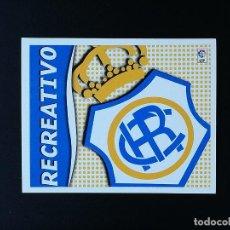 Coleccionismo deportivo: REC ESCUDO RC RECREATIVO 2006 2007 EDICIONES ESTE 06 07 LIGA SIN PEGAR NUNCA PANINI. Lote 236068510