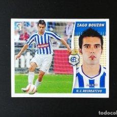 Coleccionismo deportivo: REC IAGO BUZON RC RECREATIVO 2006 2007 EDICIONES ESTE 06 07 LIGA SIN PEGAR NUNCA PANINI. Lote 236068550