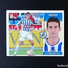 Coleccionismo deportivo: REC MERINO RC RECREATIVO 2006 2007 EDICIONES ESTE 06 07 LIGA SIN PEGAR NUNCA PANINI. Lote 236068845