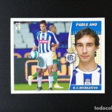 Coleccionismo deportivo: REC PABLO AMO COLOCA RC RECREATIVO 2006 2007 EDICIONES ESTE 06 07 LIGA SIN PEGAR NUNCA PANINI. Lote 236068900