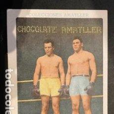 Coleccionismo deportivo: CROMO BOXEO - PAULINO UZCUDUN - SPALLA (ANTES DEL MATCH) - CHOCOLATE AMATLLER. Lote 243445545