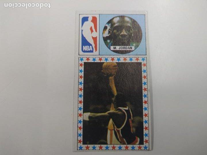 CROMO MICHAEL JORDAN CHICAGO BULLS ROOKIE CARD BALONCESTO 1986 1987 CONVERSE NBA MERCHANTE (Coleccionismo Deportivo - Cromos otros Deportes)
