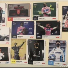 Coleccionismo deportivo: TOPPS NOW F1 LEWIS HAMILTON FERRARI ROOKIES LOTE TRADING CARDS 2020. Lote 246111000