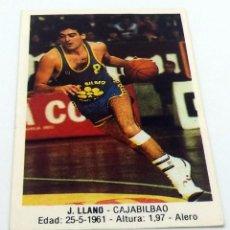 Coleccionismo deportivo: CROMO BALONCESTO CONVERSE J.LLANO-CAJABILBAO Nº 39. Lote 246917875